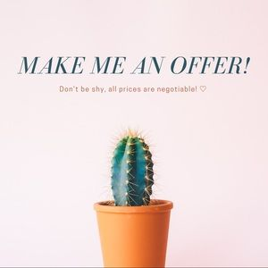 ★ MAKE ME AN OFFER ★